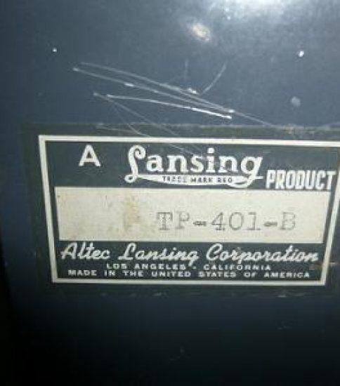 Altec Lansing TP-401B ¥108,000