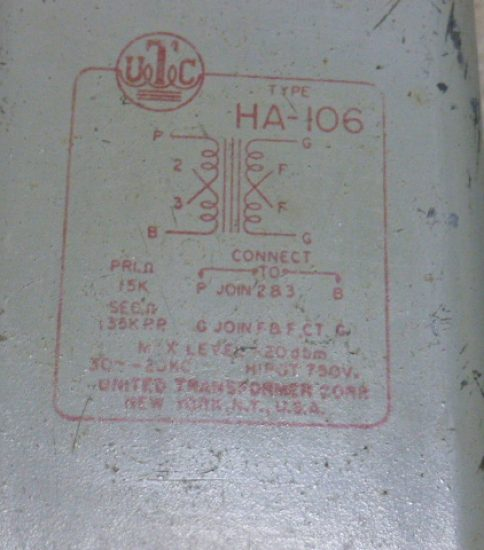 UTC HA-106 Interstage Transformer ¥59,400