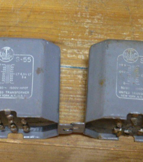UTC S-55 Heater Transformers ¥21,600/Pair