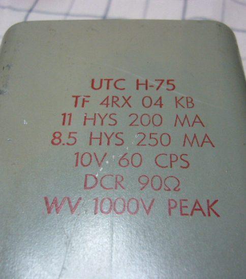 UTC H-75 RET 11H/250mA ¥54,000/Pair
