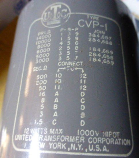 UTC CVP-1 Output Transformer ¥43,200