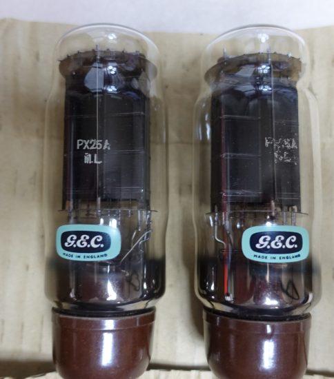 GEC PX-25A tubes NIB ¥270,000/Pair