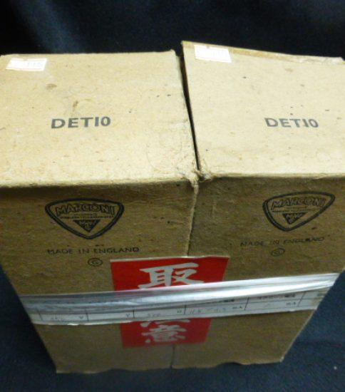Marconi DET10 tubes NIB ¥43,200/Pair