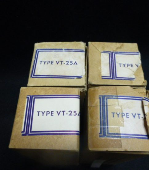 Western Electric VT25A tubes NIB ¥66,000/Pair
