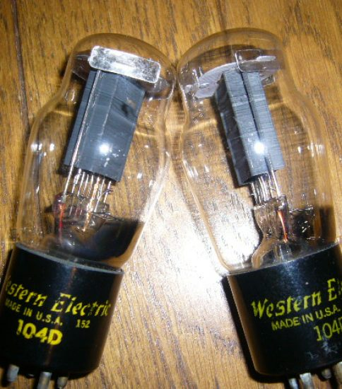 Western Electric 104D Tubes ¥55,000/Each