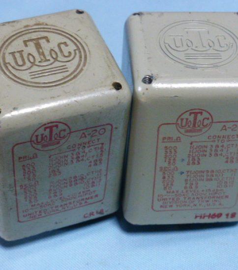 UTC A-20 Input Transformers ¥38,500/Pair