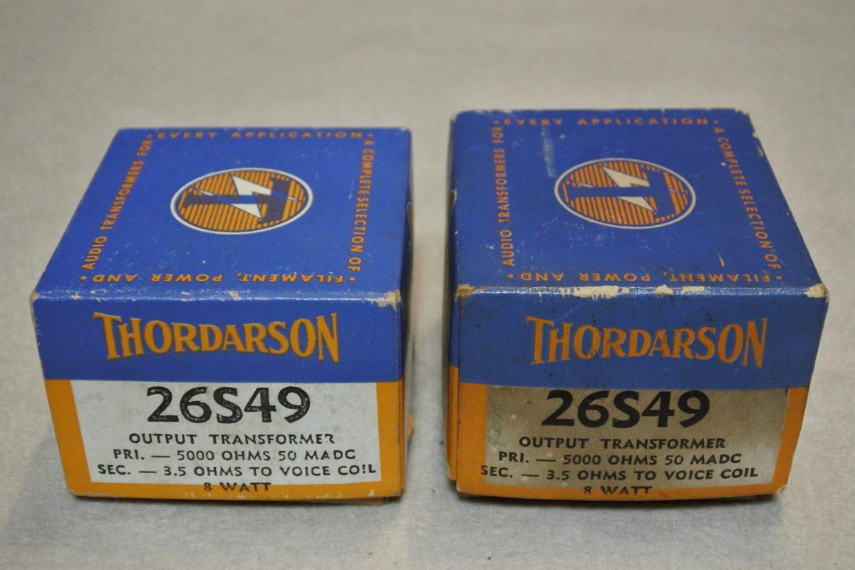 Thordarson 26S49 SE Output Transformers ¥44,000/Pair