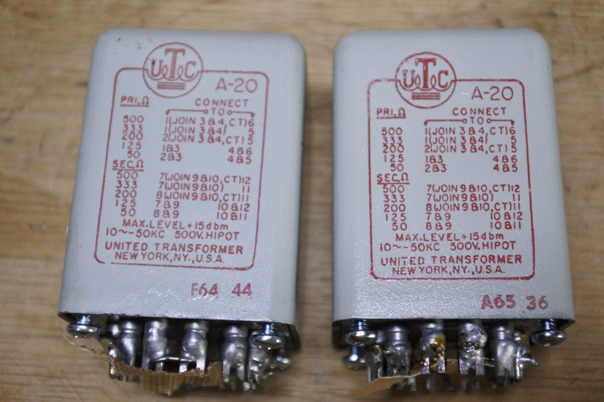 UTC  A-20  Input transformers ¥55,000/Pair