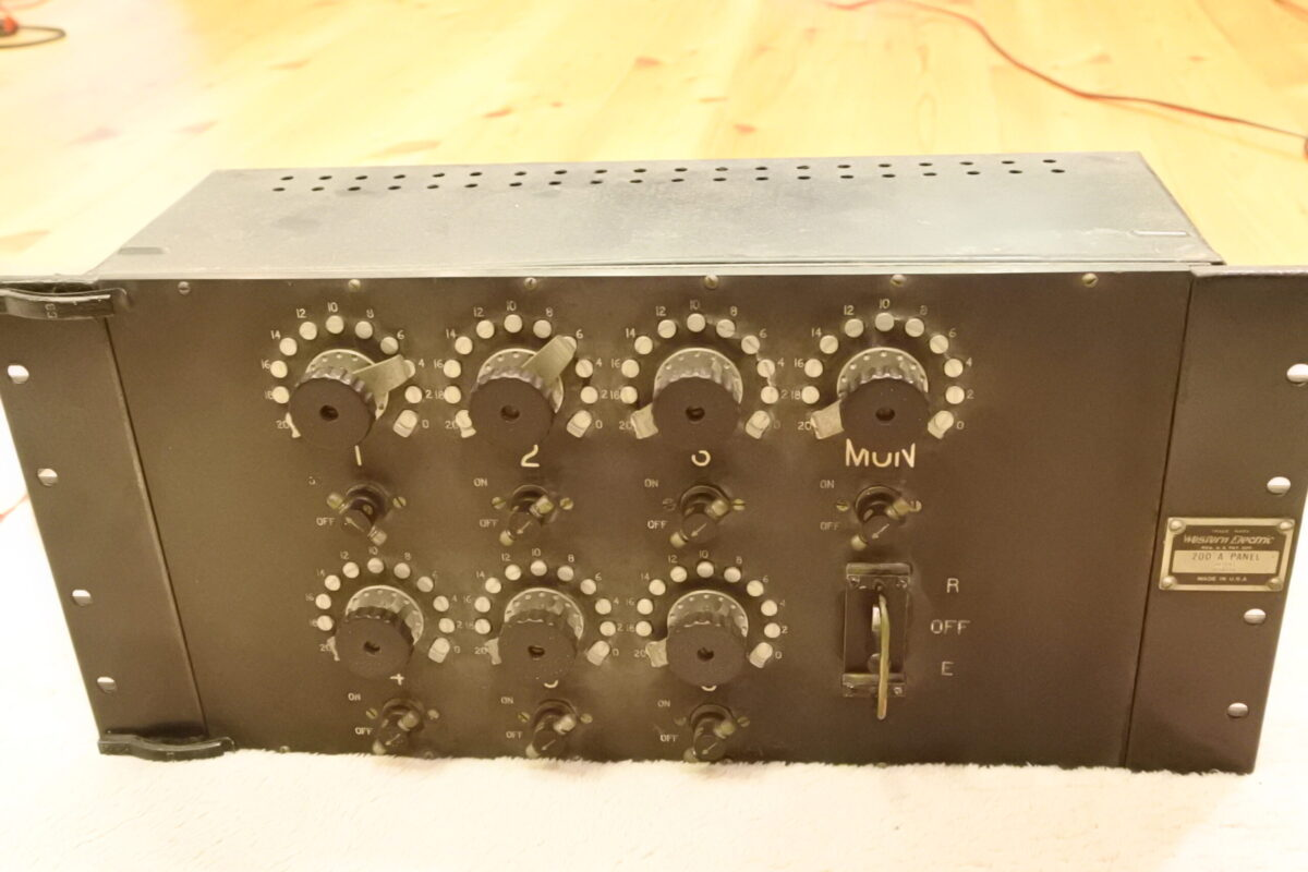 Rare !! Western electric 200A Panel with 7A Black Transformer \Ask!!