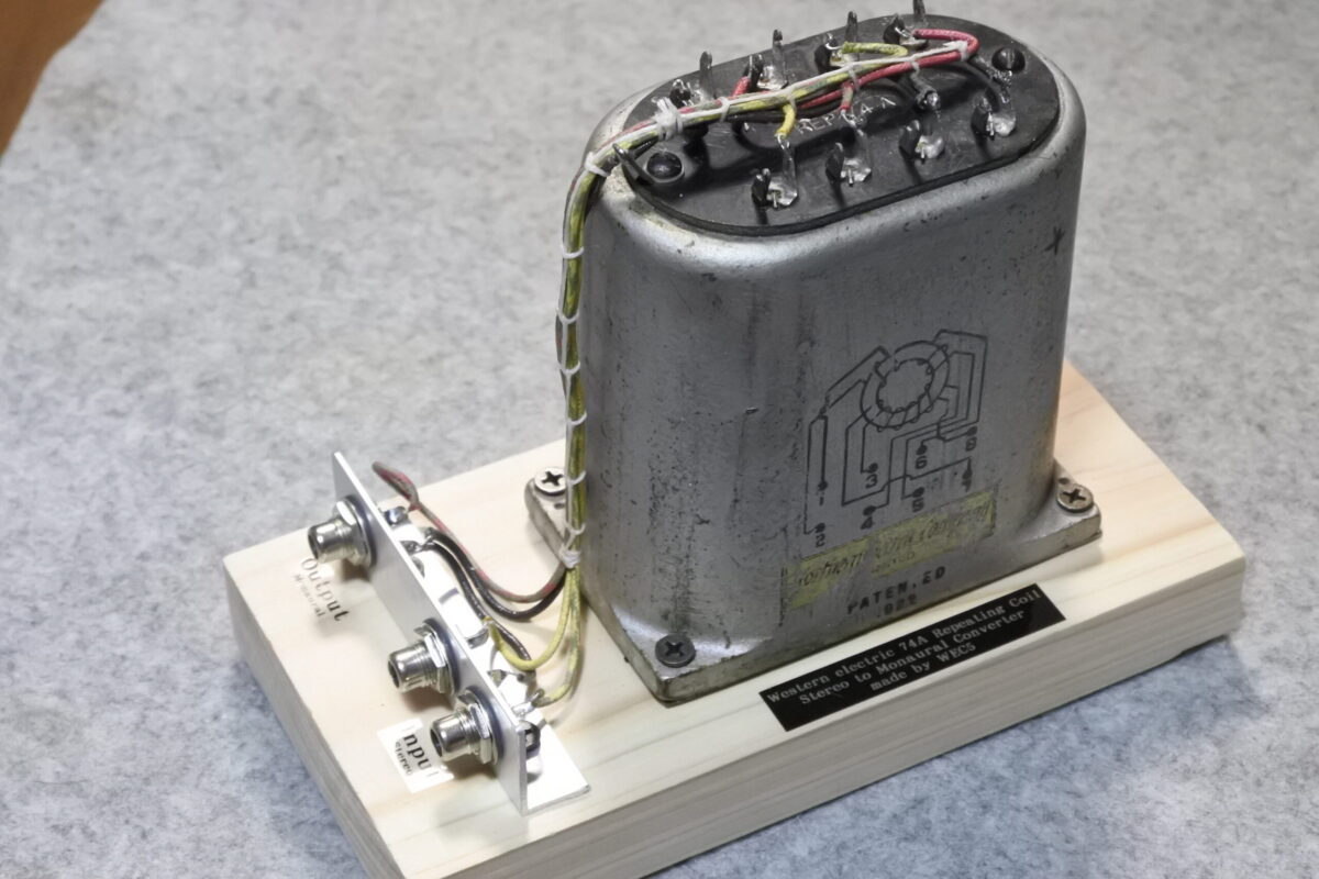 Western electric 74A REP Stereo to Mono Converter ¥165,000